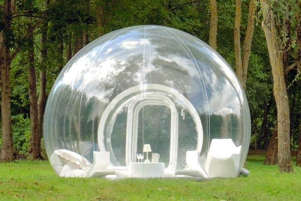Bubble tent france dining camping nature 590jn111610