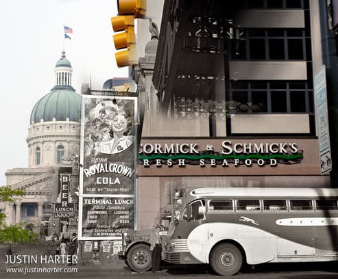 Merged before/after photos of Indianapolis 1