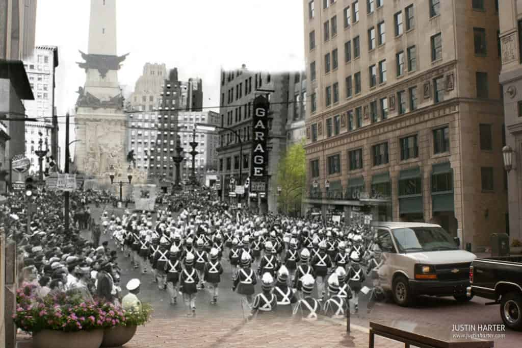 Merged before/after photos of Indianapolis 2