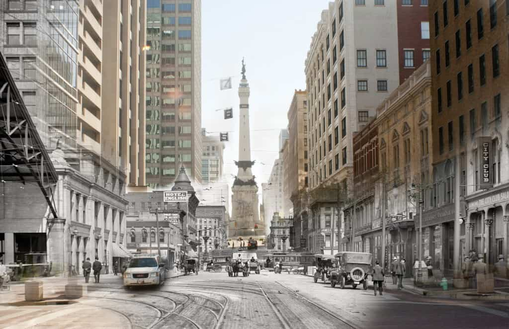 Merged Photo of West Market Street Then & Now (Neat!) 1