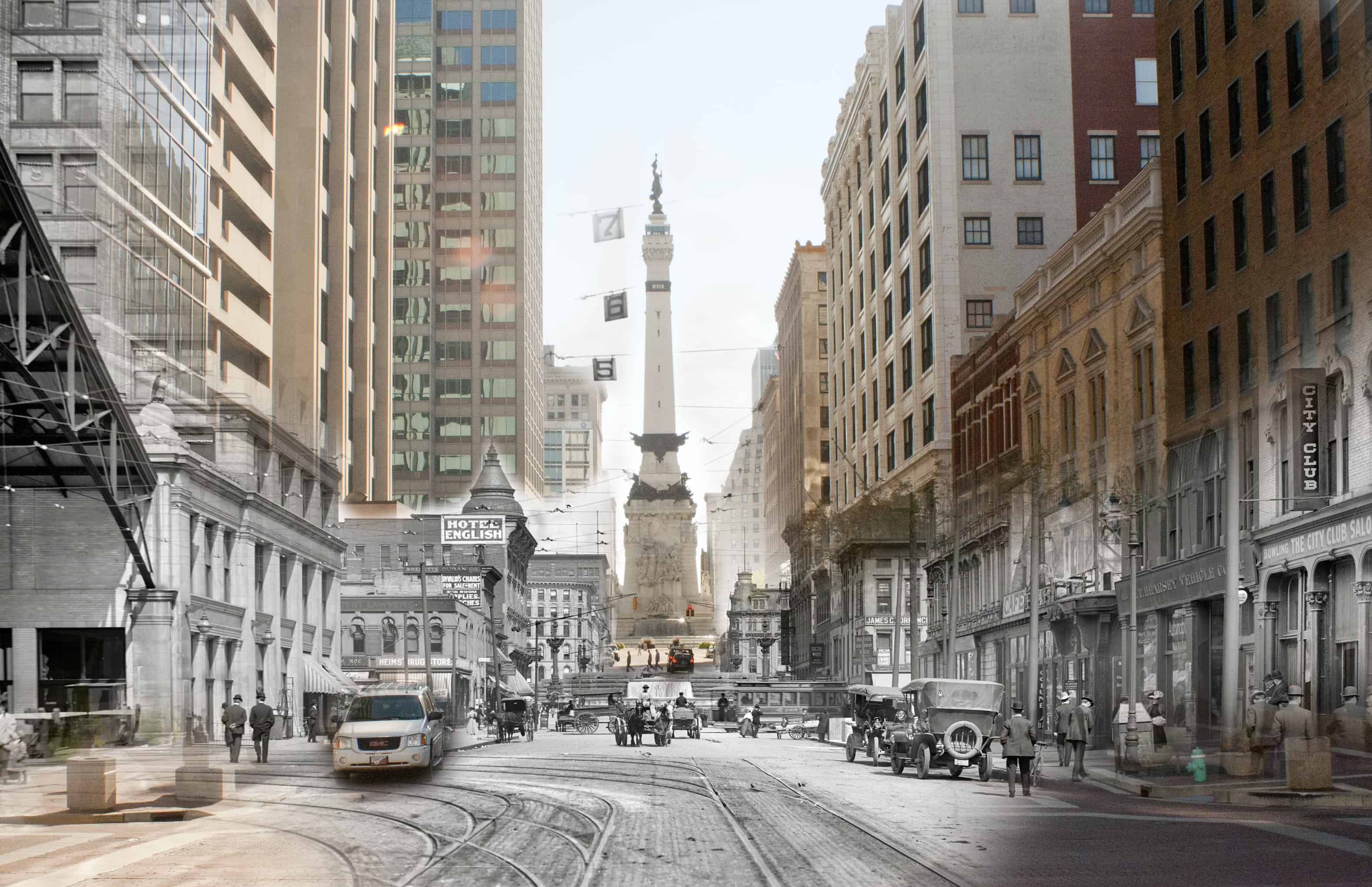 Merged Photo of West Market Street Then & Now (Neat!) - Justin Harter ... Street