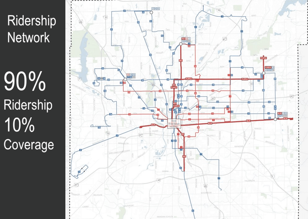 IndyGo Frequency Map