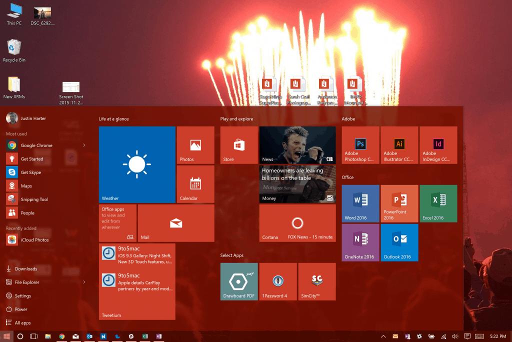 Windows 10 Matching Desktop Background