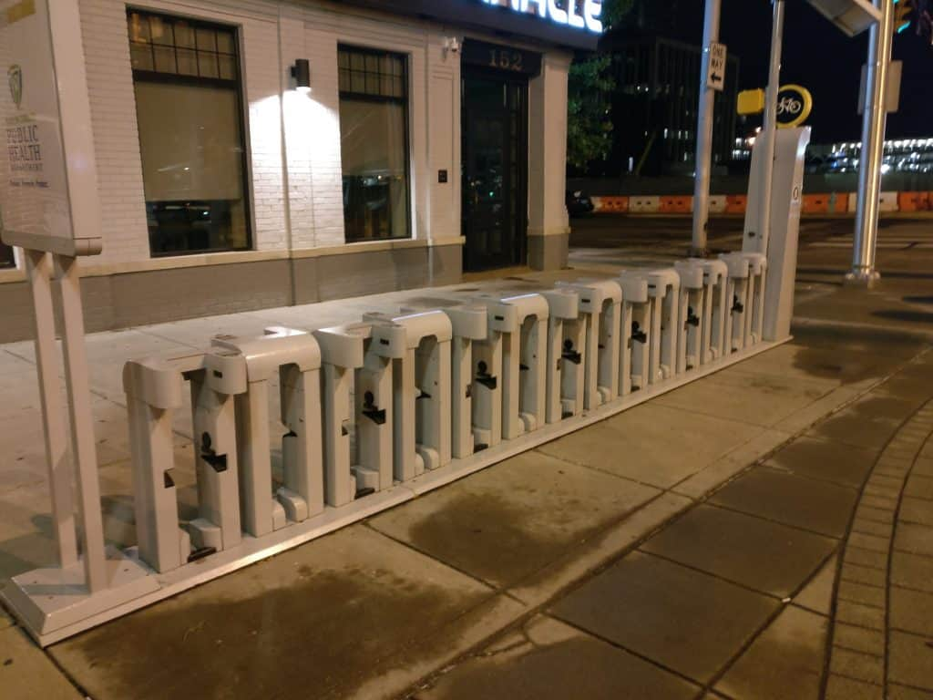 Pacers Bikeshare Empty Station