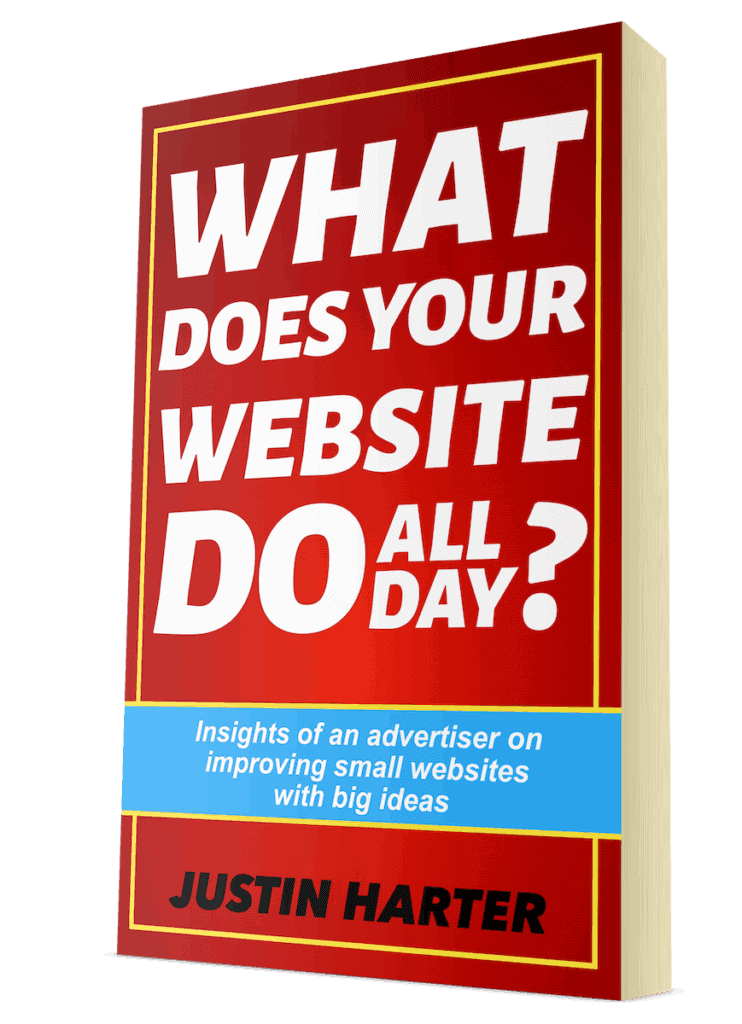 """Book cover of """"What Does Your Website Do All Day?"""""""