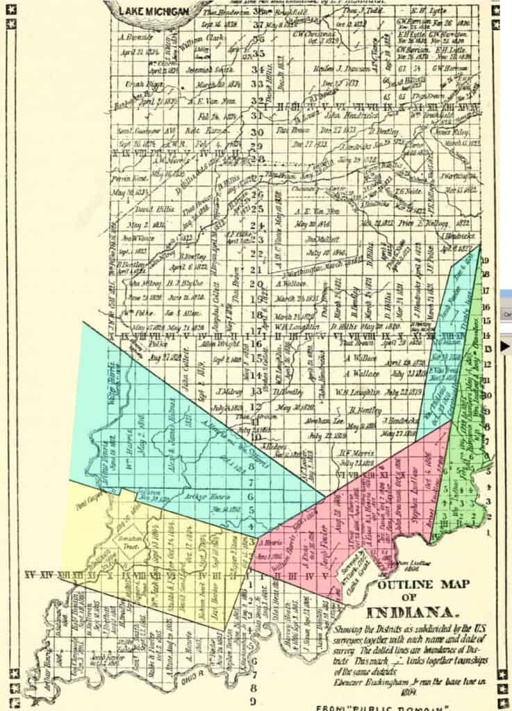 Treaty map of Indiana territory.